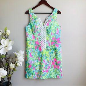 Lilly Pulitzer swirled embroidery trim Shift dress